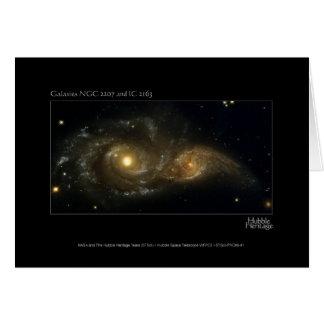 Telescopio de Hubble de las galaxias casi que Tarjeta De Felicitación
