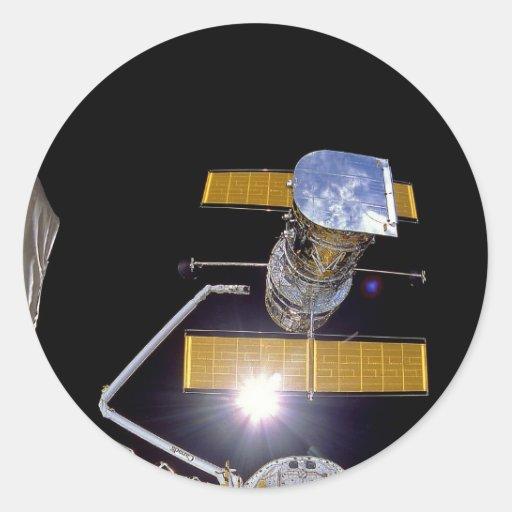 Telescopio de Hubble Pegatina Redonda