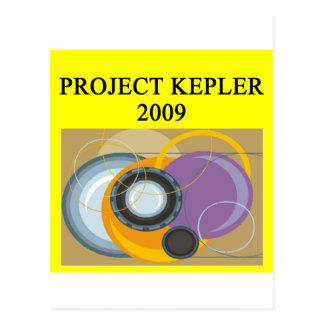 telescopio de la astronomía del kepler del postal