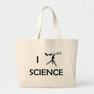 Telescopio de la ciencia del amor bolsa tela grande