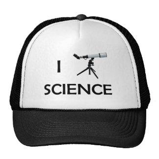 Telescopio de la ciencia del amor gorro de camionero