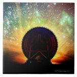 Telescopio de radio azulejos cerámicos