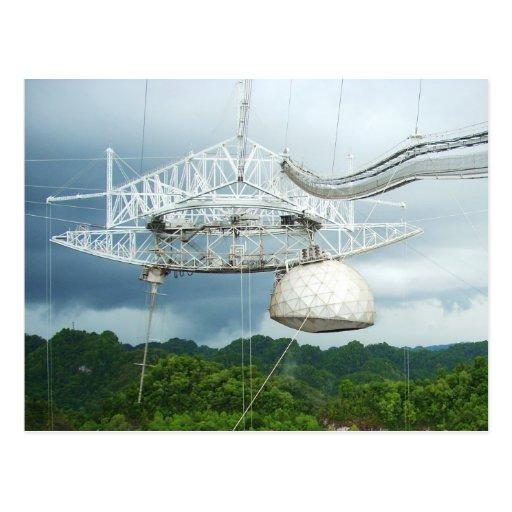Telescopio de radio de Arecibo, Puerto Rico Tarjeta Postal