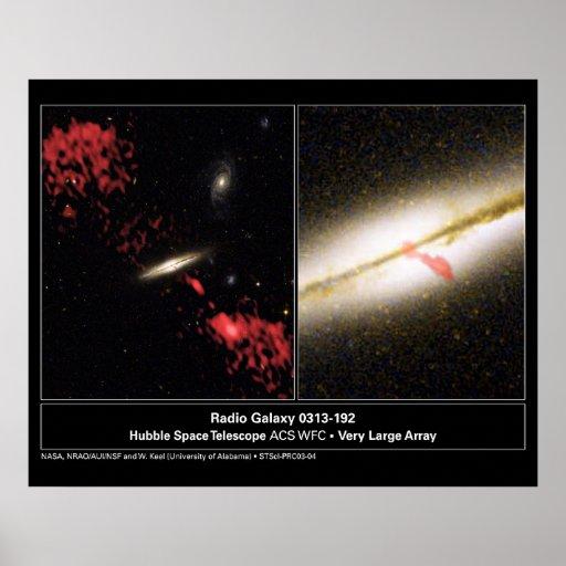 Telescopio de radio de Hubble de la galaxia 031319 Póster