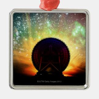 Telescopio de radio ornamento para arbol de navidad