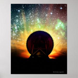 Telescopio de radio posters