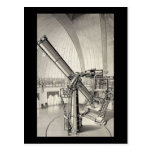 Telescopio del vintage postal