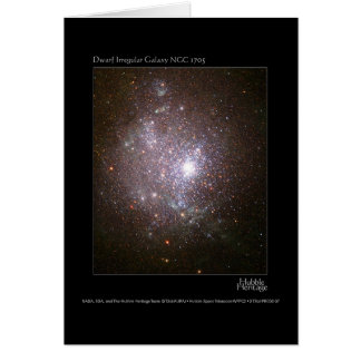 Telescopio enano 1705 de la galaxia NGC Hubble Tarjeton