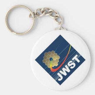 Telescopio espacial de James Webb Llavero Redondo Tipo Pin