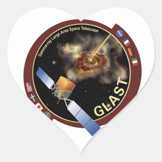 Telescopio espacial de la área extensa del rayo ga pegatinas de corazon