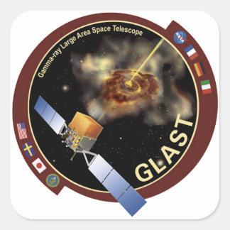 Telescopio espacial de la área extensa del rayo pegatinas cuadradas