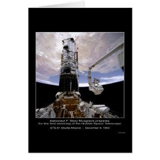 Telescopio espacial de Musgrave Hubble del astrona Tarjeta De Felicitación