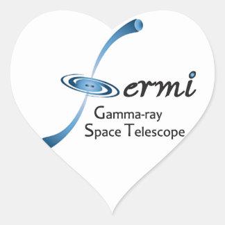 Telescopio espacial del rayo gama de Fermi Pegatina Corazon