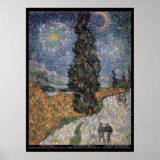 Telescopio espacial/Van Gogh de Spitzer Posters