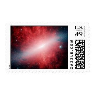 Telescopio infrarrojo de la galaxia M82 Spitzer Sello