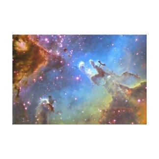 "TELESCOPIO ""nebulosa de HUBBLE de Eagle"" EN LONA Impresión En Tela"