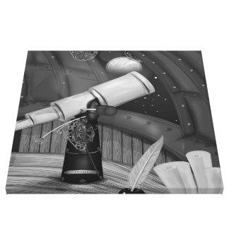 telescopio, observatorio, telescopio+observatorio, impresión en lienzo