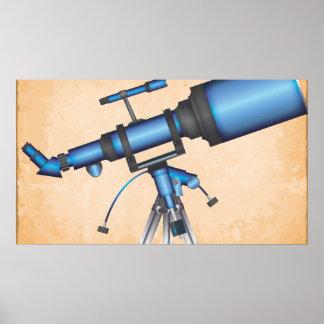 Telescopio Póster