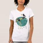 Telescopio y pájaro camisetas