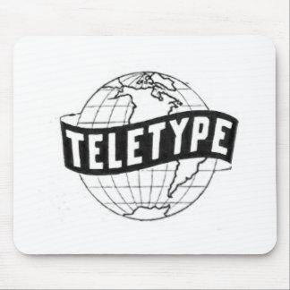 Teletype (Globe Logo) Mouse Pad