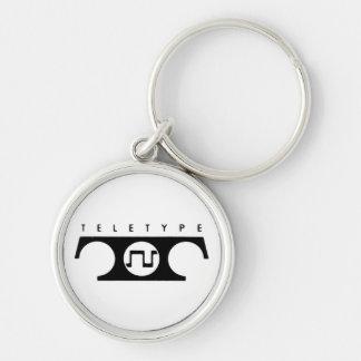 Teletype Keychain