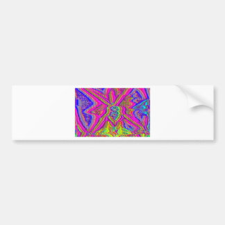 Televise Awakening (Glitch art) Bumper Sticker