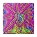 Televise despertar (el arte de la interferencia) azulejo cerámica