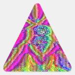 Televise despertar (el arte de la interferencia) pegatinas triangulo personalizadas