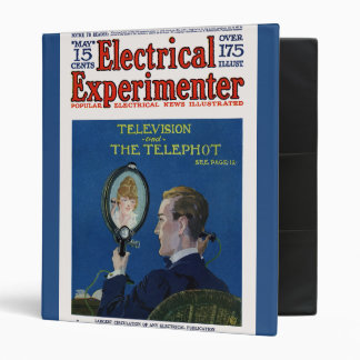 Television and The Telephot 3 Ring Binder