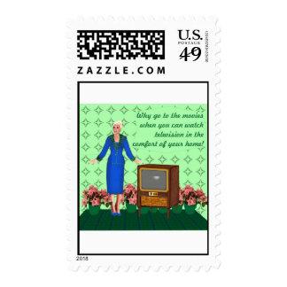 Television begins postage stamps