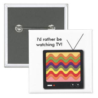 Televisión - botón pin cuadrado
