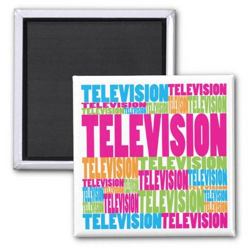 Televisión colorida imán cuadrado