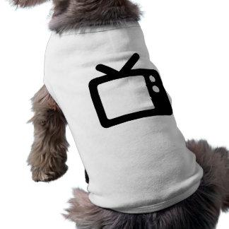 Televisión con los oídos de conejo camisetas mascota