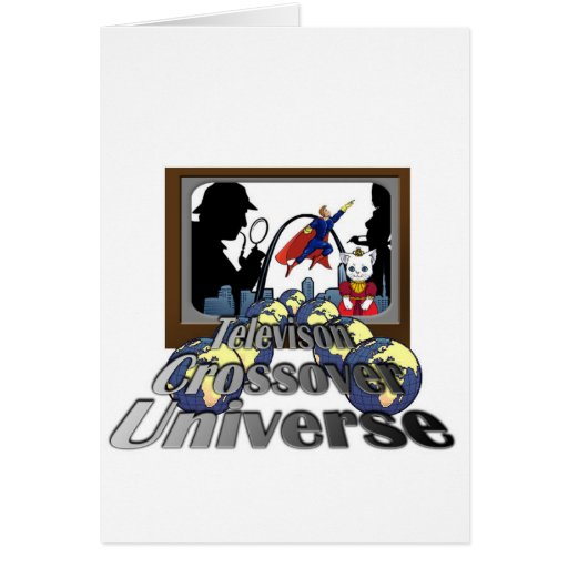 Television Crossover Universe Greeting Card