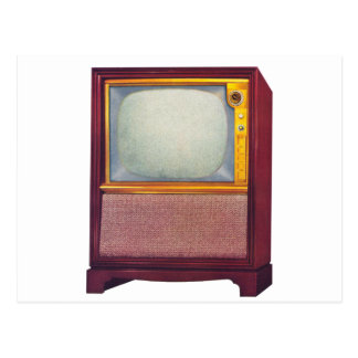 Televisión del kitsch TV del vintage vieja Tarjeta Postal