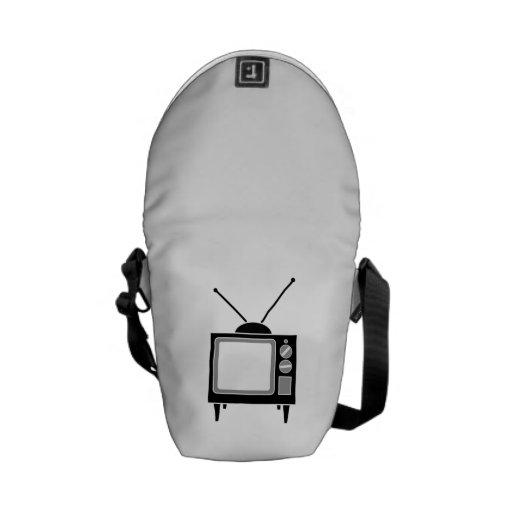 Televisión del vintage bolsas de mensajeria