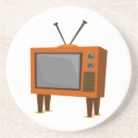 Televisión del vintage posavasos manualidades