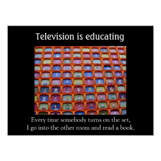 Television educates poster