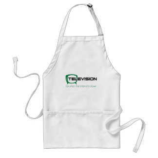 Television for when the internet is down aprons
