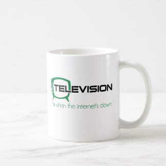 Television for when the internet is down classic white coffee mug