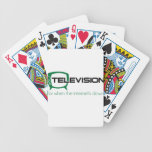 Television for when the internet is down playing cards