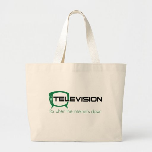 Television for when the internet is down tote bags