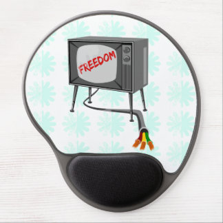 Television Freedom Cut The Cord Gel Mouse Pad