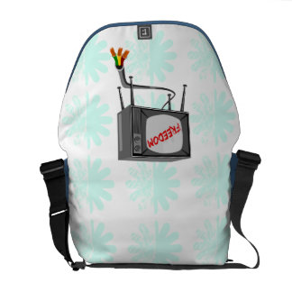 Television Freedom Cut The Cord Messenger Bag