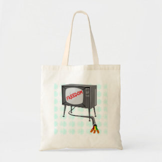 Television Freedom Cut The Cord Tote Bag