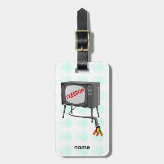 Television Freedom Luggage Tag