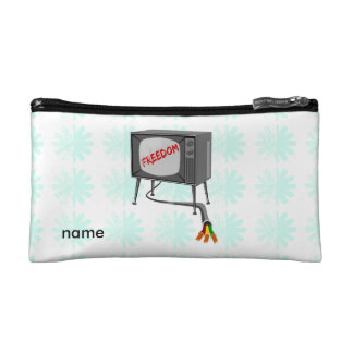 Television Freedom Makeup Bag