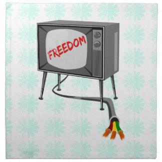 Television Freedom Napkin