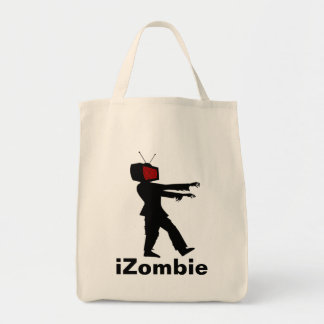 Television Head iZombie Zombie Design Tote Bag