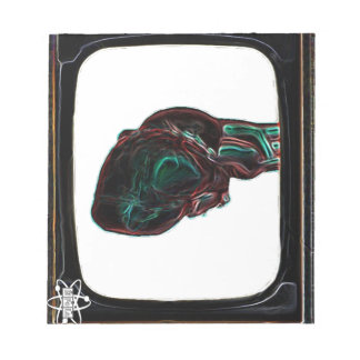 Television Heart Black Memo Note Pads